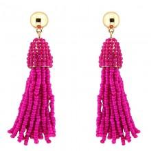 Ohrhänger Temmy, gold/hot pink von Sweet de Luxe