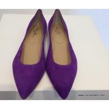 Ballerina Ziegenvelour in Farbe viola