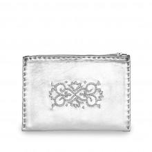 Abury bestickte Puch aus Leder in Silber