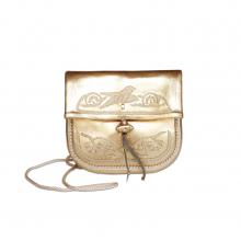 Abury Mini Umhängetasche aus Leder in gold