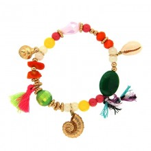 Armband Snail I, gold/multi von sweet e Luxe