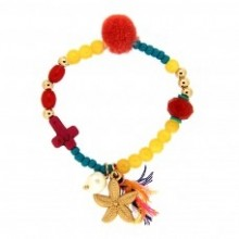 Armband little Sea Star, gold/multi von Sweet de Luxe