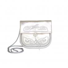 Abury Mini Umhängetasche aus Leder in silber